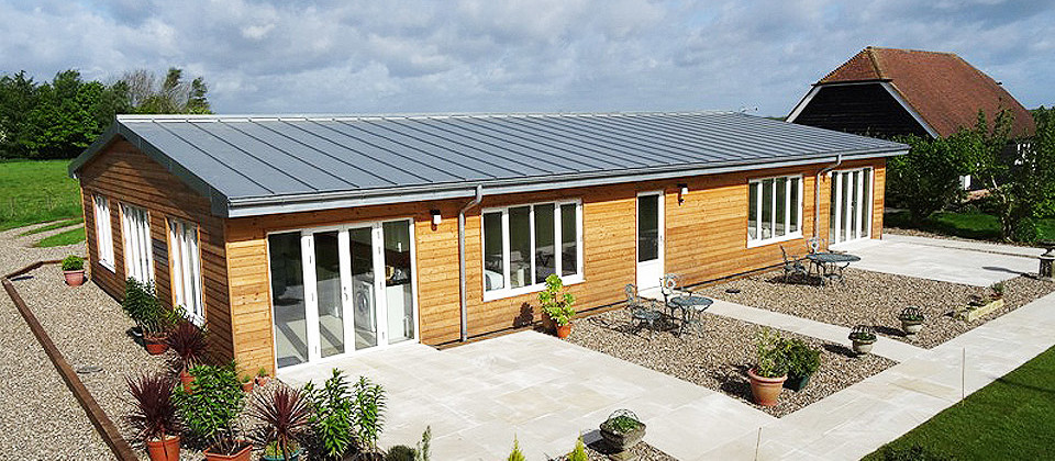 Zinc roof for holiday accommodation in Kent