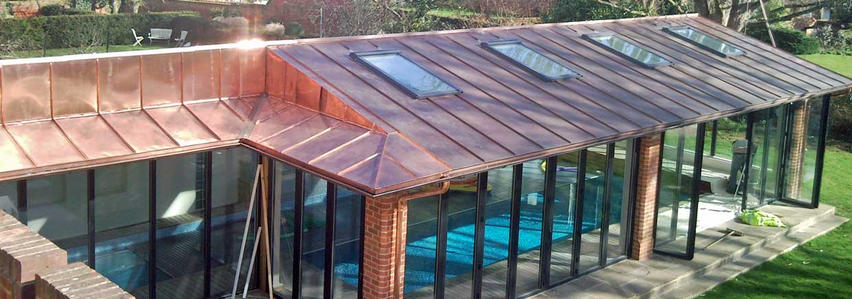 Copper Work On Oxford Pool House Metal Roof Ltd