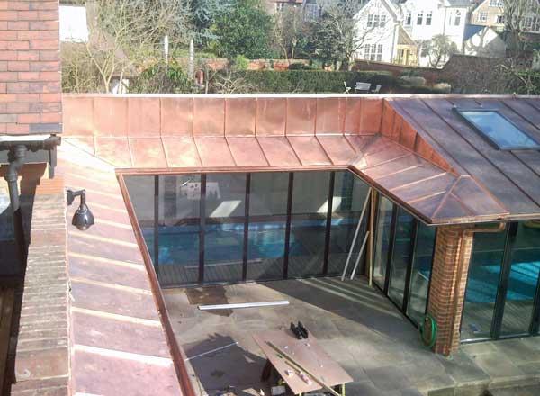 Copper Work On Oxford Pool House Metal Roof Ltd