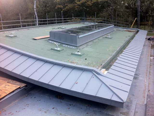 Zinc Eaves Cladding In Orpington Kent Metal Roof Ltd