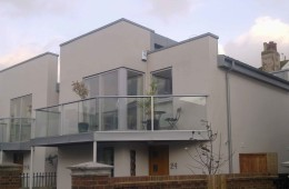 Zinc roofs for new-build houses in Hove, East Sussex