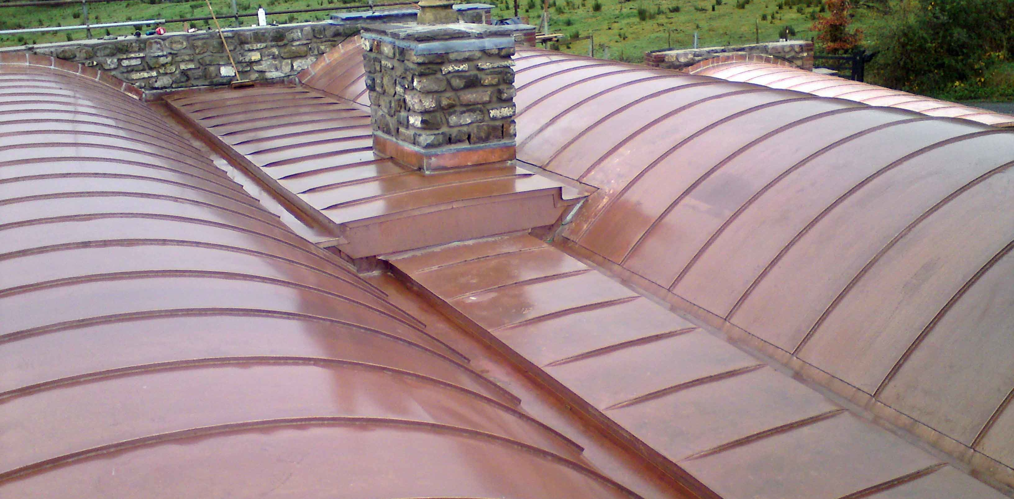 Copper metal roof pictures Concord Sheet Metal - Supplier of Copper Gutters