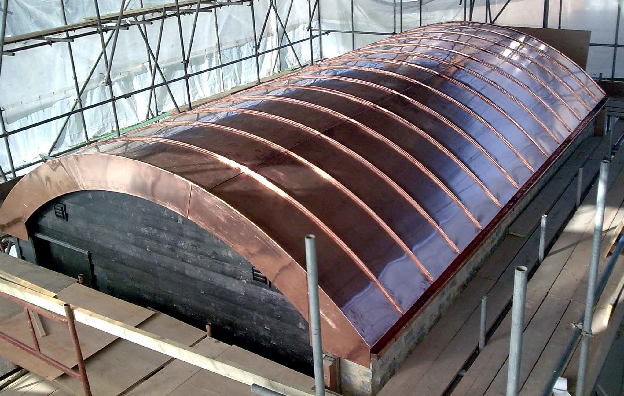 Vaulted Copper Roof For Swimming Pool House Metal Roof Ltd