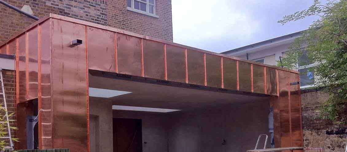 Copper Cladding To Hampton Extension Metal Roof Ltd