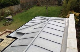 Zinc cladding to Canterbury extension