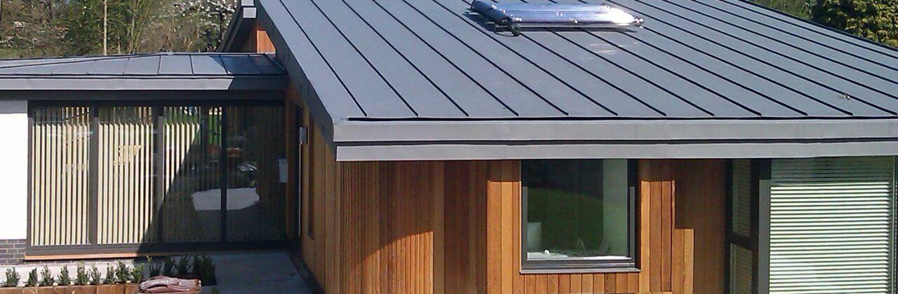 VM Zinc warm roof construction in Sissinghurst, Kent