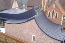 VM Anthra zinc cladding on Lewes, Sussex church extension