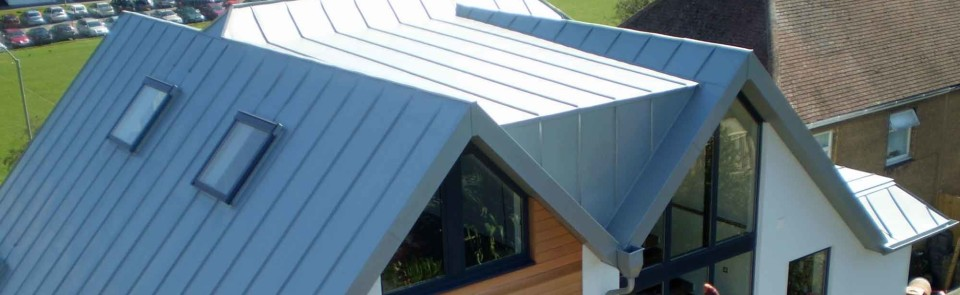 Zinc roofing and cladding on Brighton, Sussex family house