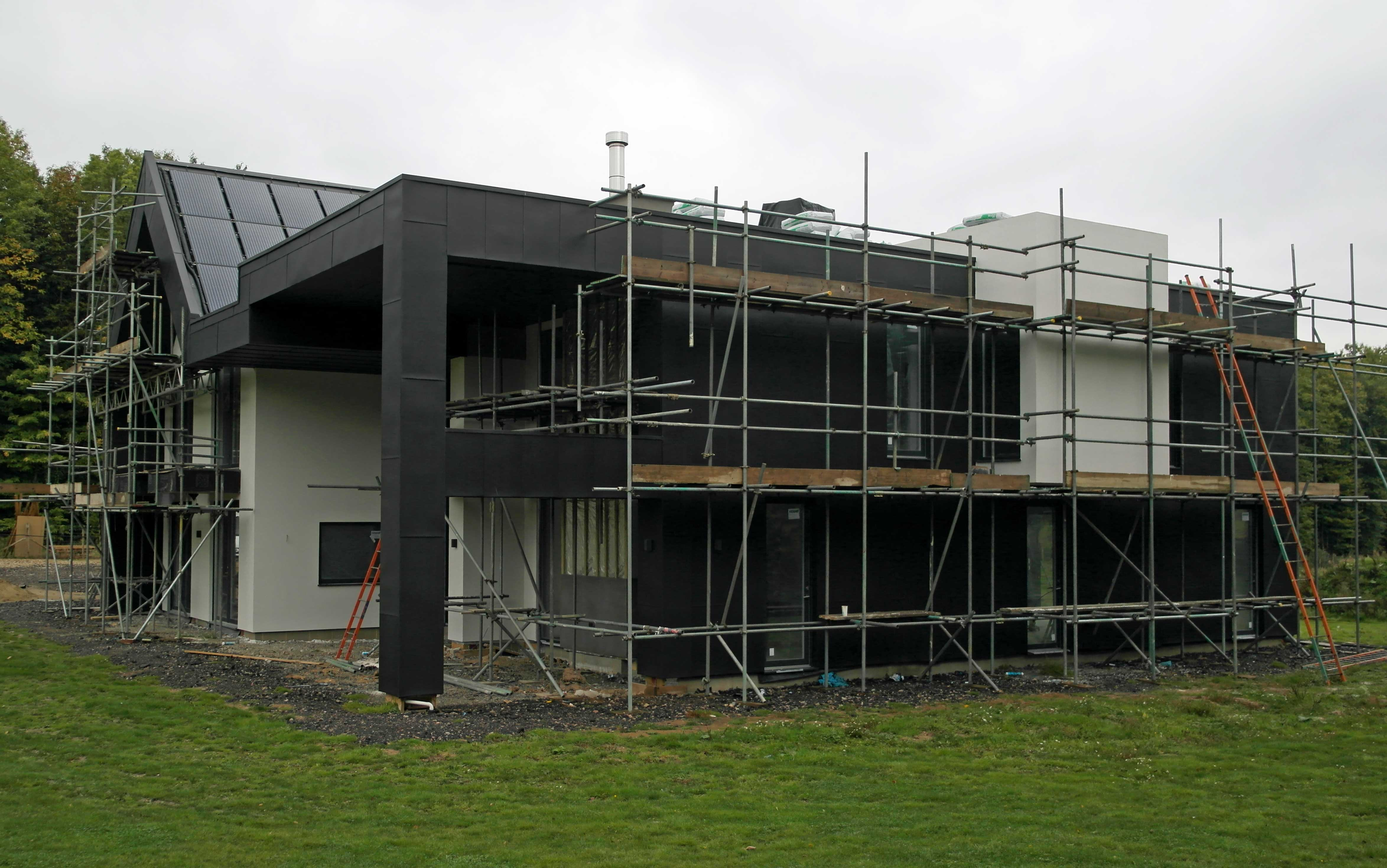 Large Vm Anthra Zinc Clad Canterbury House Metal Roof Ltd