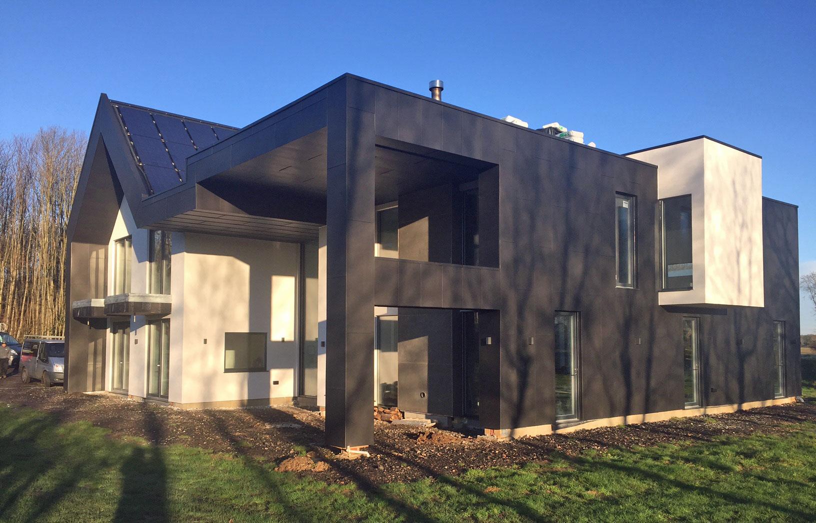 Large Vm Anthra Zinc Clad Canterbury House Metal Roof Ltd