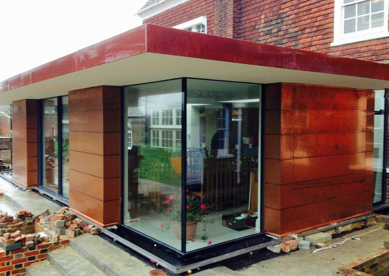 Copper Batten Roll Roofing In Sussex Metal Roof Ltd