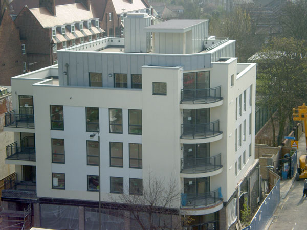 Zinc Cladding On London Apartment Block Metal Roof Ltd