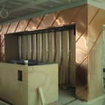 Interior copper panelling for Jamie's Italian