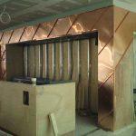 Interior copper panelling for Jamie's Italian