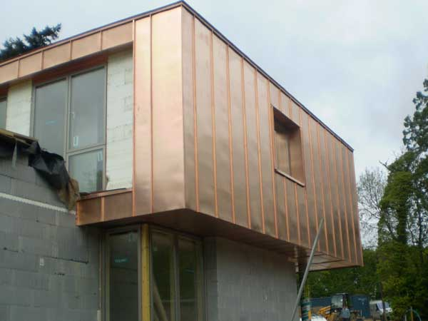 Bronze Finish Copper Cladding To Sussex House Metal Roof Ltd
