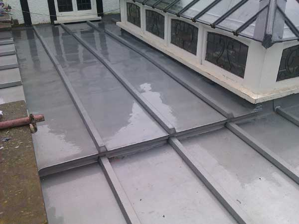 Batten Roll Zinc Roof On London Museum
