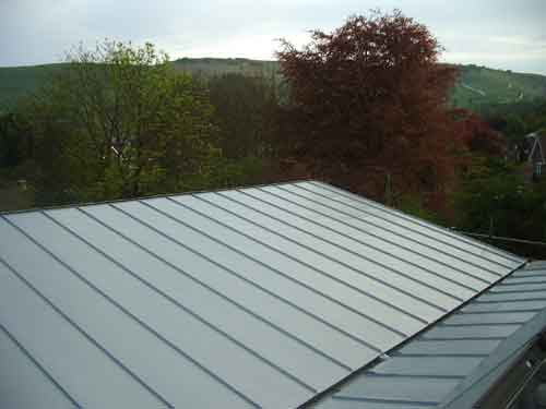 Modern Roof For New Build In Kingston Sussex Metal Roof Ltd