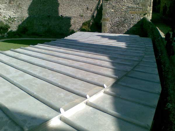 Traditional Batten Roll Roof For Lewes Castle In Sussex