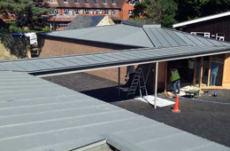 Zinc roof to Sevenoaks School in Kent