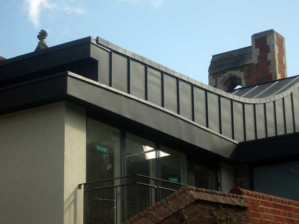 Vm Anthra Zinc Cladding On Lewes Sussex Church Extension