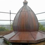 Copper clock tower