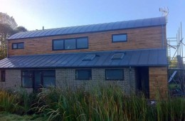 Curved zinc roof in Laughton, East Sussex