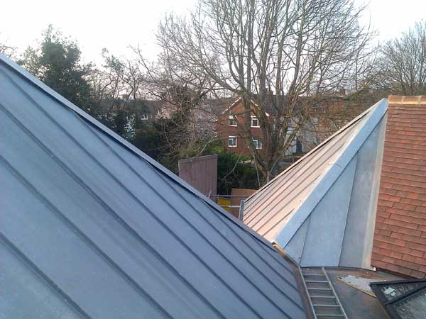 Two Zinc Pyramids On Church Extension In Sussex Metal
