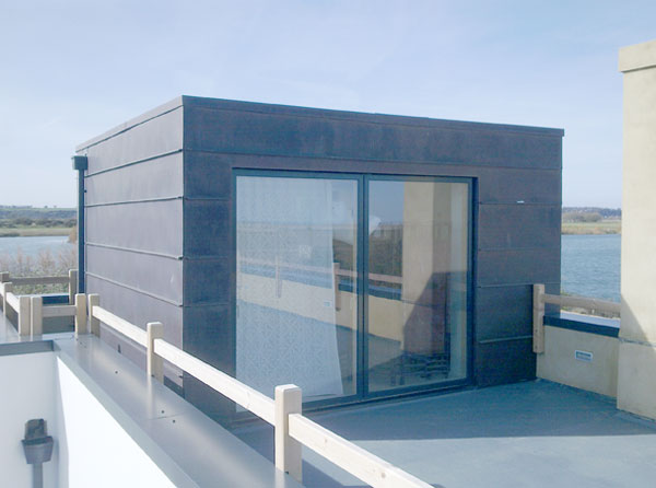 Copper Clad Rooftop Cube For Beach House At Winchelsea