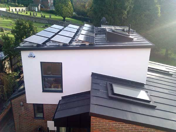 Vm Anthra Zinc On Lewes Sussex New Build Metal Roof Ltd