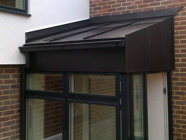 Vm Anthra Zinc On Lewes Sussex New Build Metal Roof Ltd