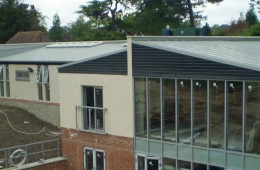 Large Corus Falzink roof for Kent nursing home