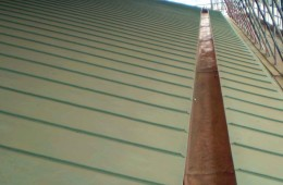 Pre-patinated green copper roof for London College