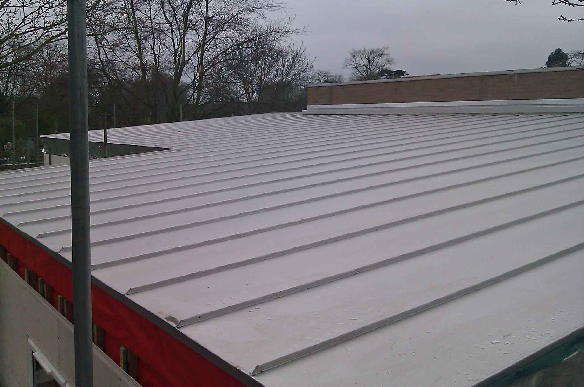 Aluminium Roof On Primary School Metal Roof Ltd