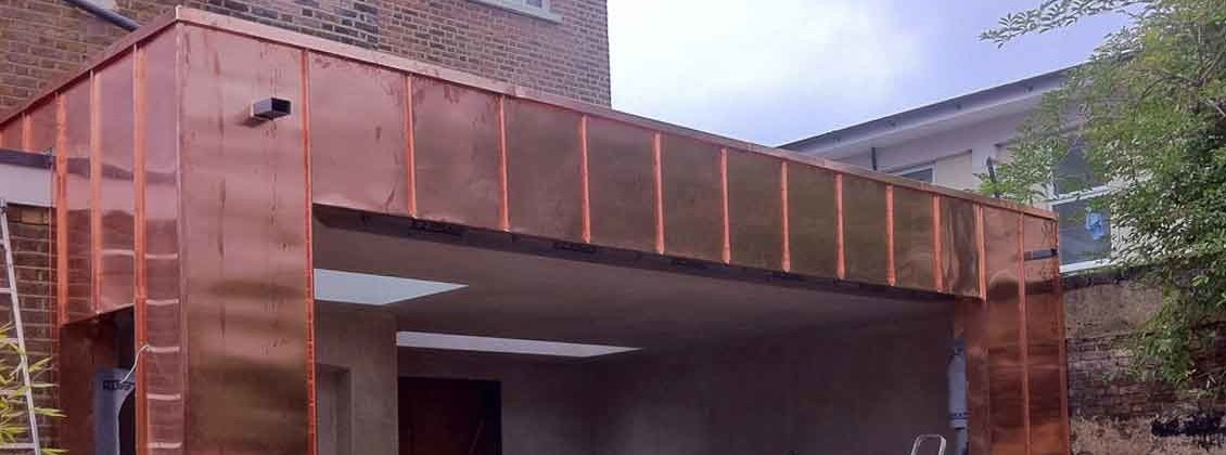 Copper cladding to Hampton extension