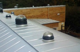 Lindab Aluzinc standing seam roofing for Sussex GPs' surgery