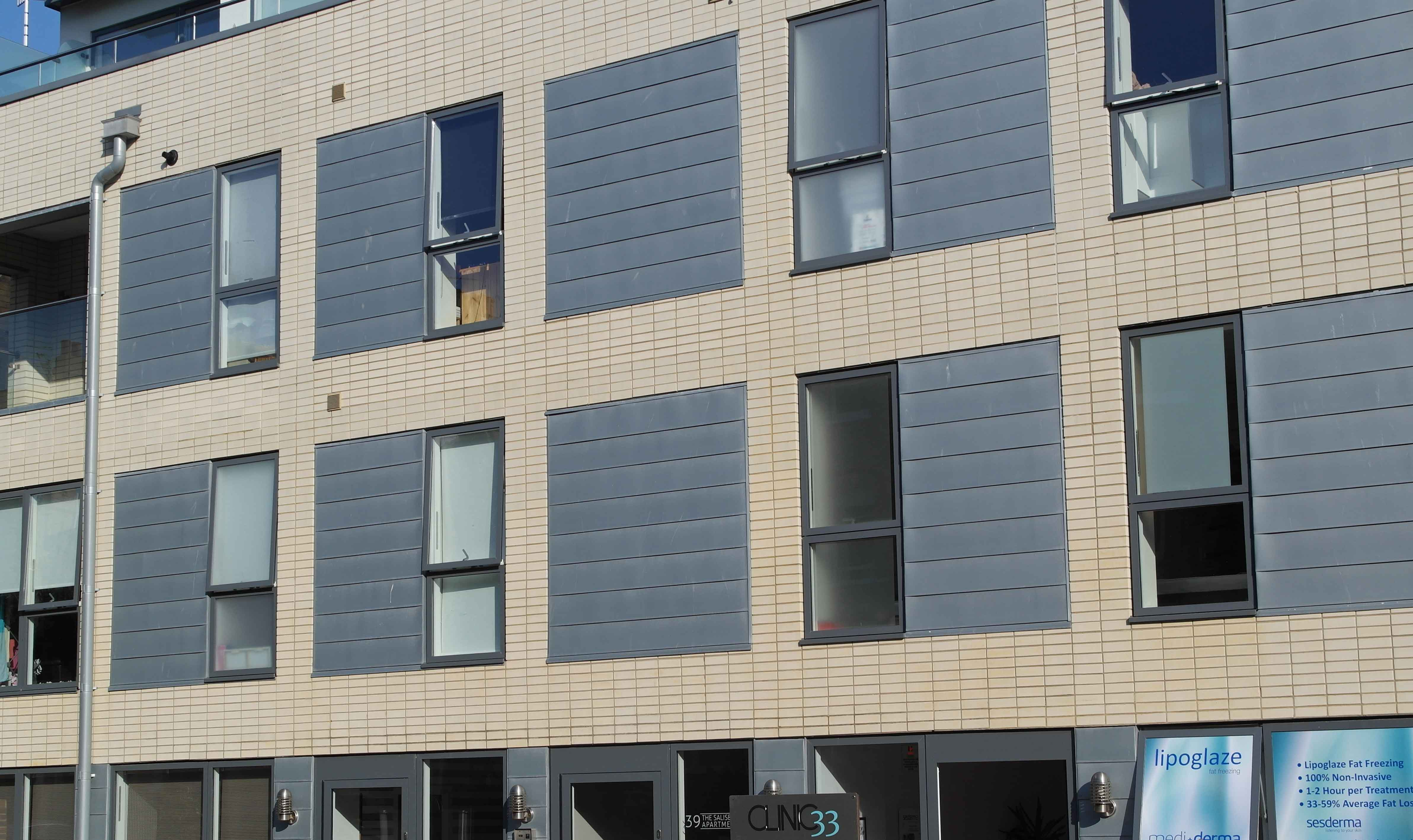 Zinc Cladding On Brighton Sussex Apartment Block Metal