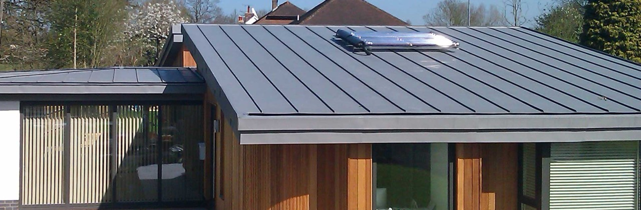 VM Zinc warm roof construction in Sissinghurst, Kent