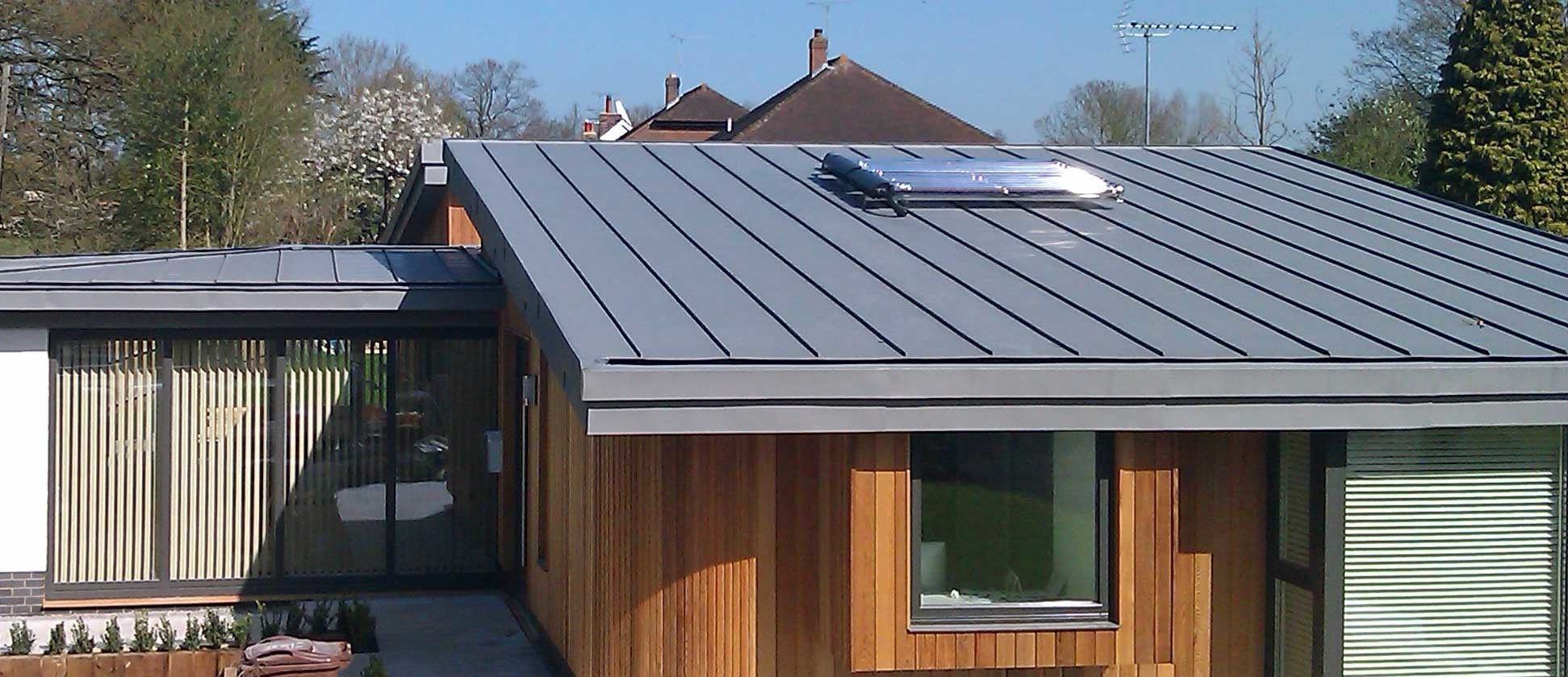 Vm Zinc Warm Roof Construction In Sissinghurst Kent