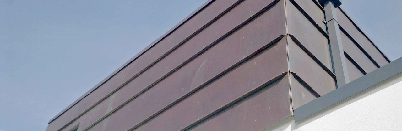 Copper clad rooftop cube for beach house at Winchelsea, Sussex