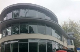 Round zinc roofs for London school