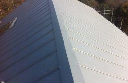 Copper batten roll roofing in Sussex