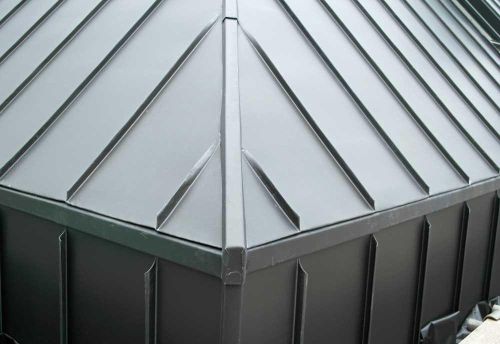Zinc Clad New Built Barn House In Hurstpierpoint Sussex Metal Roof Ltd