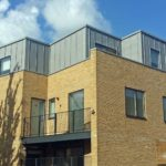 Zinc cladding to Dane Place