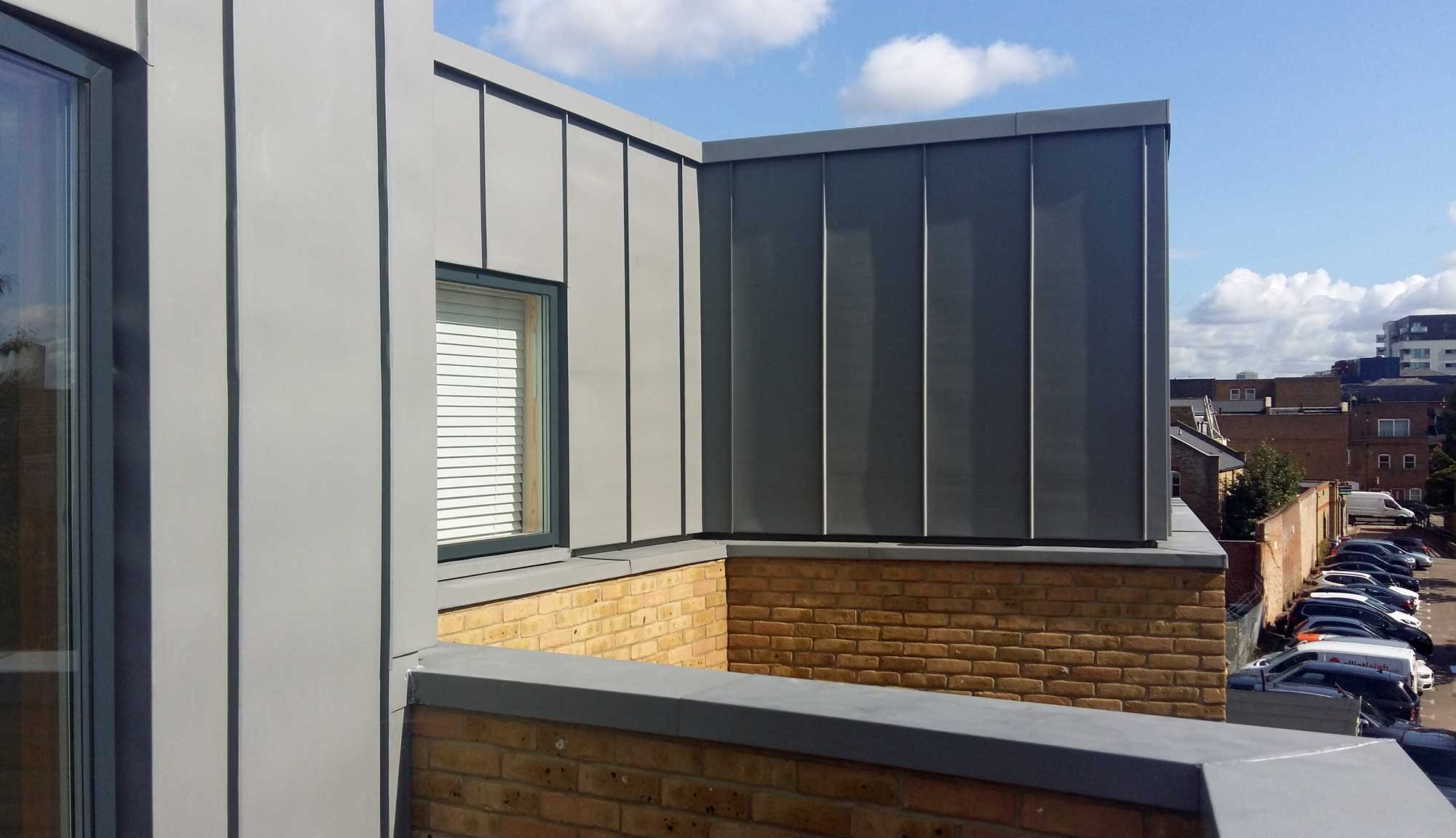 Zinc Cladding At Dane Place Metal Roof Ltd