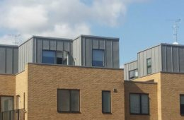 Zinc cladding at Dane Place