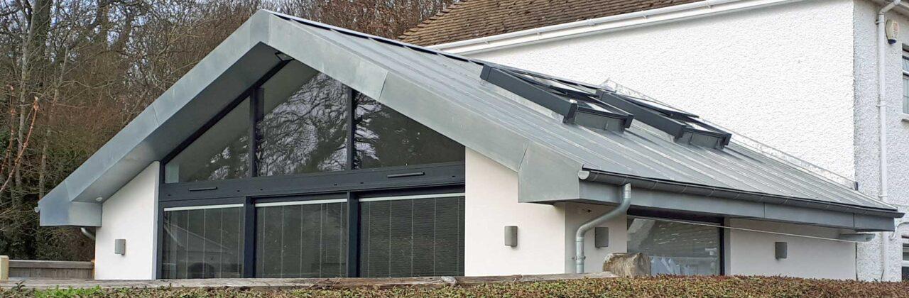 Coppice House, Polegate: zinc extension